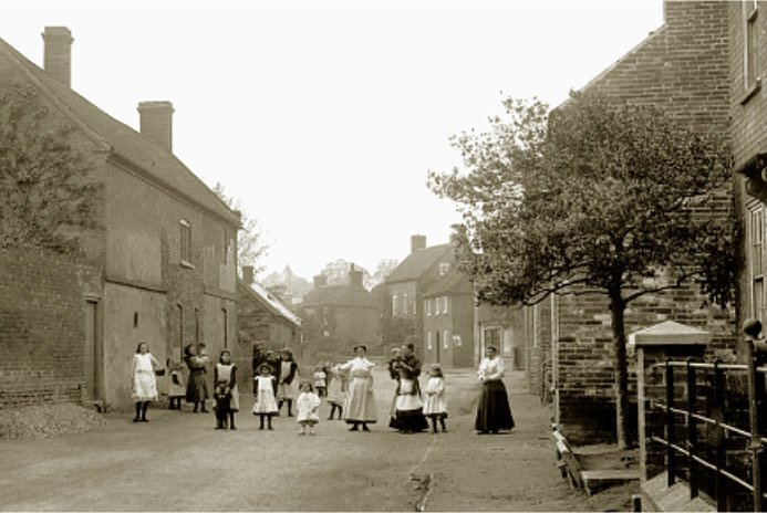 Old photo of Flintham Village